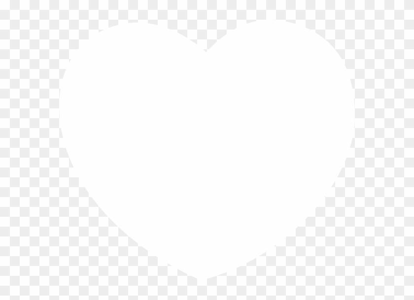 White Heart Black Background #92841