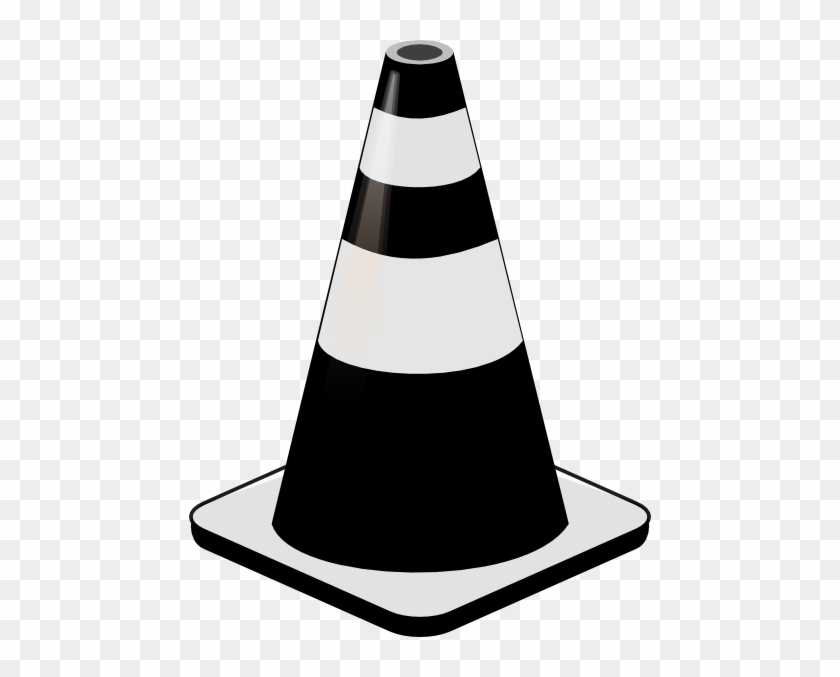 Cone Clipart - Traffic Cone Black And White #92874