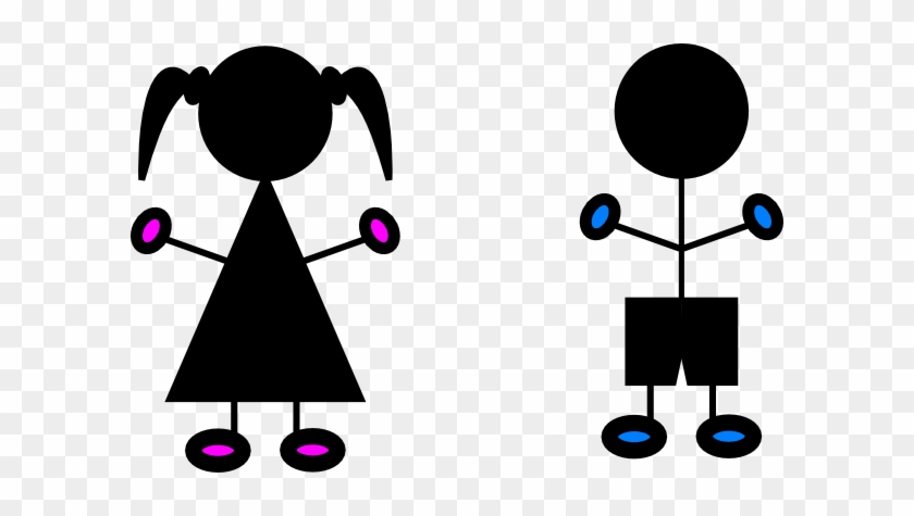 Sign Clipart Toilet - Boy And Girl Silhouette #93006