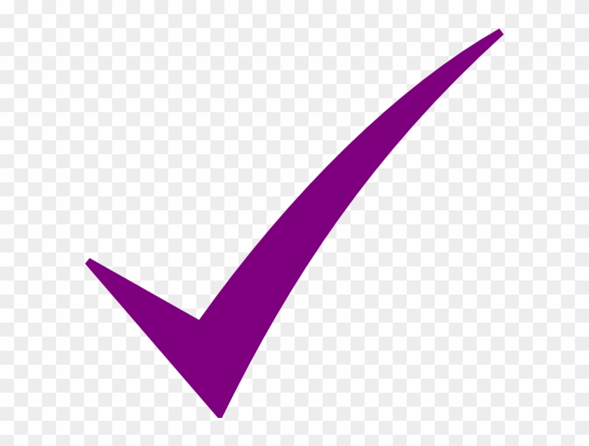 Contacted The Auction Office With Questions - Purple Check Mark Clip Art #93032