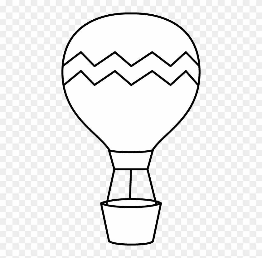Enjoyable Inspiration Air Balloon Clipart Black And - Hot Air Balloon Clipart Black And White #93044