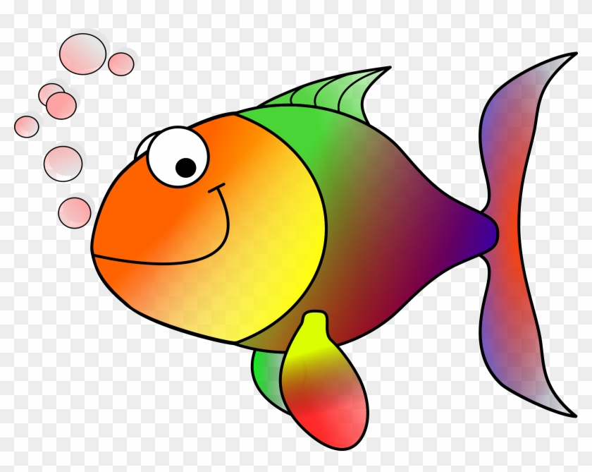 Clipart Happy Fish Clip Art - Tropical Fish Shower Curtain #93075
