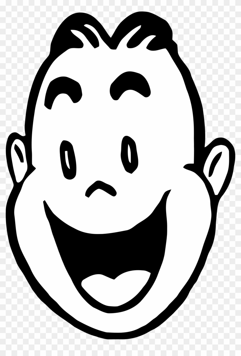 Big Image - Happy Clipart Black And White #93118