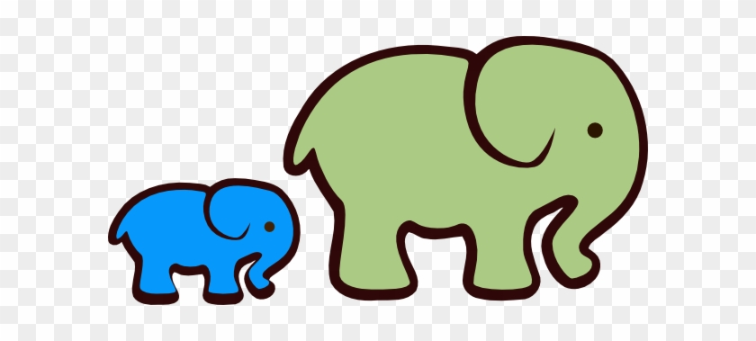 Free Download Baby Elephant Clipart Vector Clip Art - Small Elephant Images Cartoon #93130