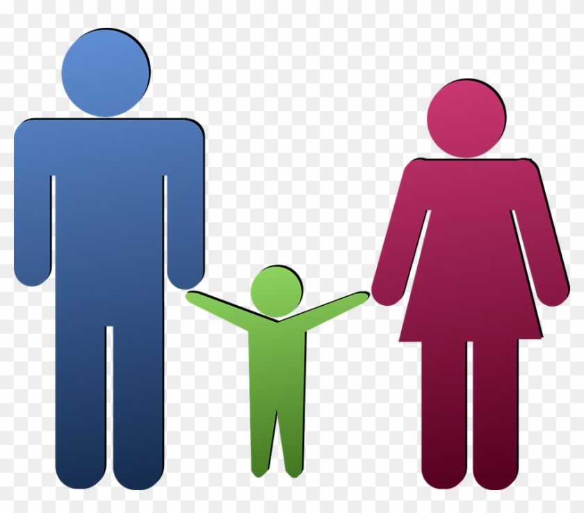 Child Family Father Human Mother People Persons - Pai Mae E Filho Png #93156