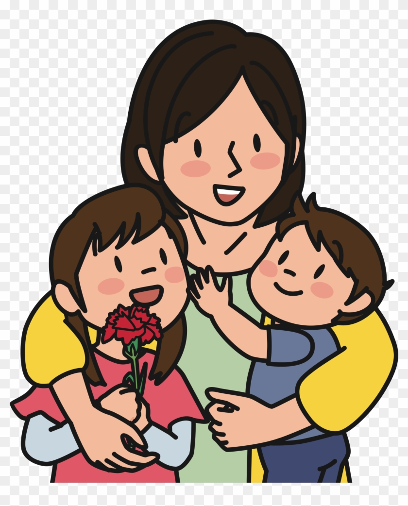 Mother And Children Gambar Ibu Dan Anak Kartun Free Transparent Png Clipart Images Download