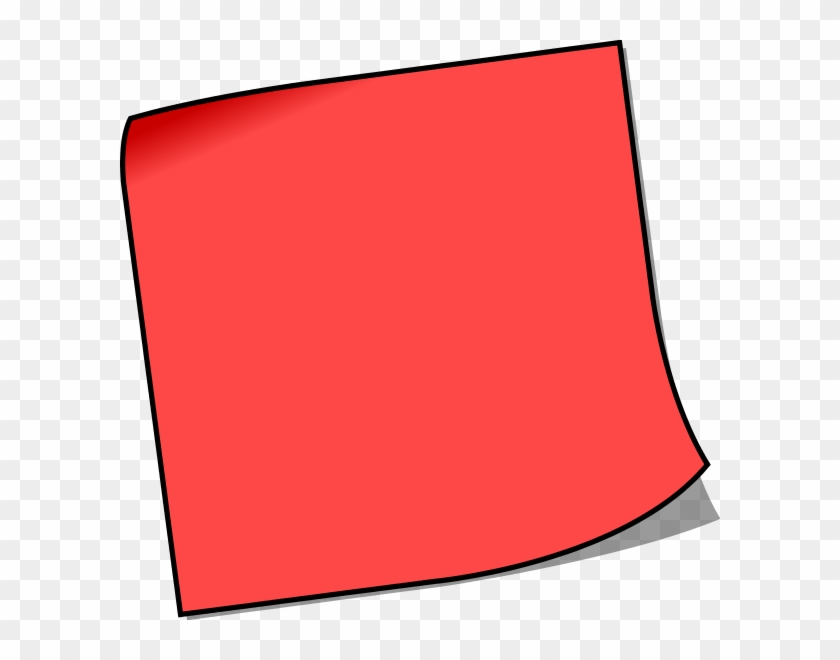Clipart Sticky Note Pad Clipartfest - Red Post It Note #93184