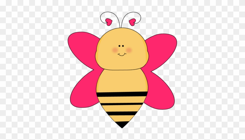 Bee With Heart Antenna Clip Art - Colorful Bee Clip Art #93214