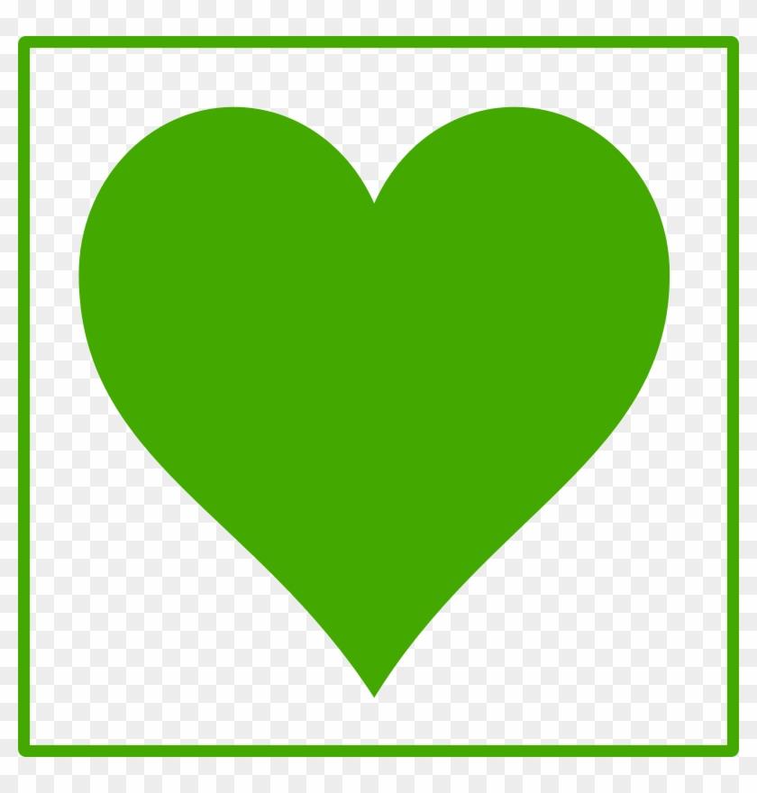 Green Heart Clipart #93217