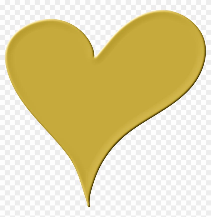Heart Clipart Gold - Gold Heart Clip Art #93219