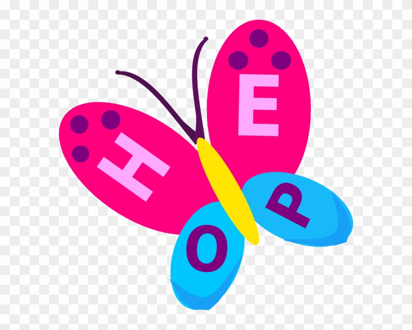 Hope Butterfly Clip Art At Clker - Clip Art On Hope #93253