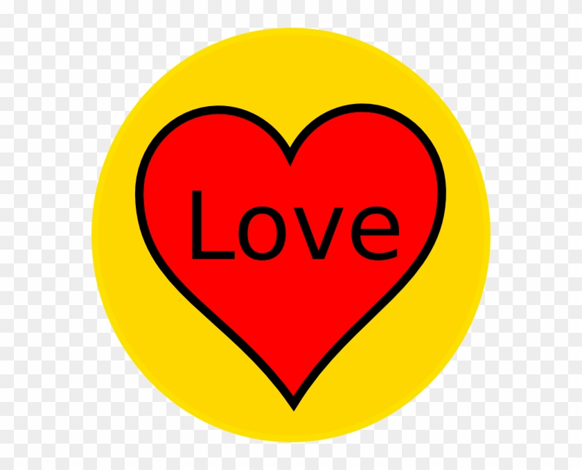 Yellow And Red Heart #93275
