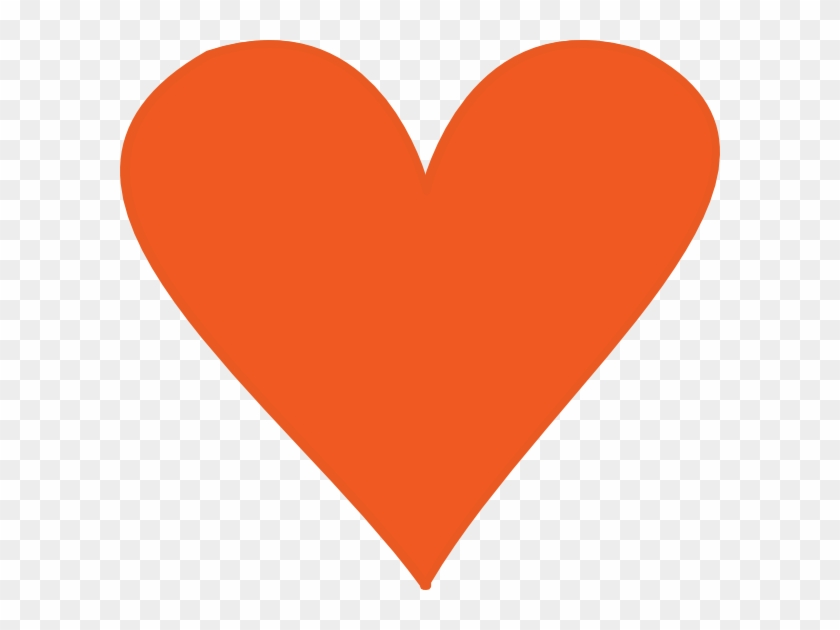Orange Heart Clip Art - Heart Clipart Orange #93388