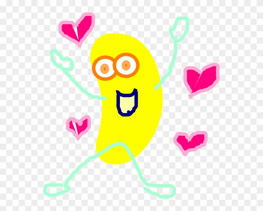 Yellow Jumping Jelly Bean Clip Art At Vector Clip Art - Free Animated Clipart Jelly Bean #93392
