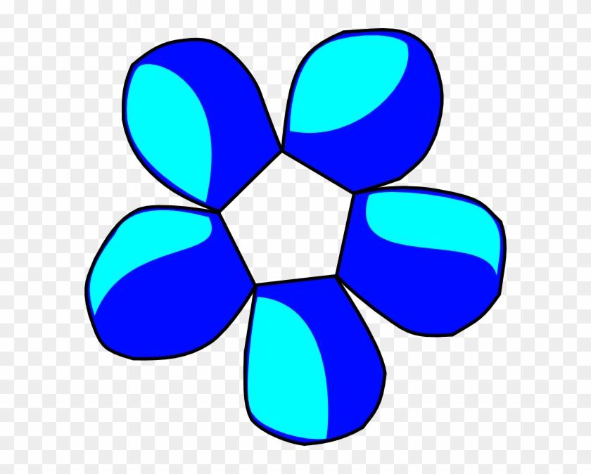 Blue Flower Clip Art - Flower Clip Art #93414