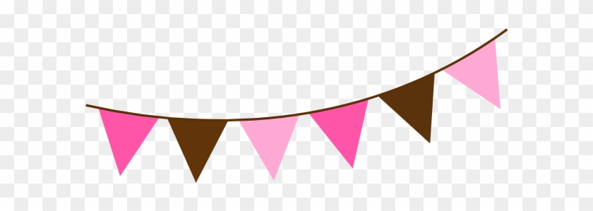 Image Of Bunting Clipart - Pink Flag Banner Clipart #93421