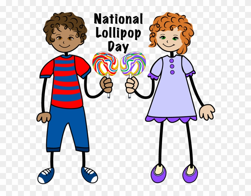 Clip Art Of Kids With A - Kid With Lollipop Clipart #93441