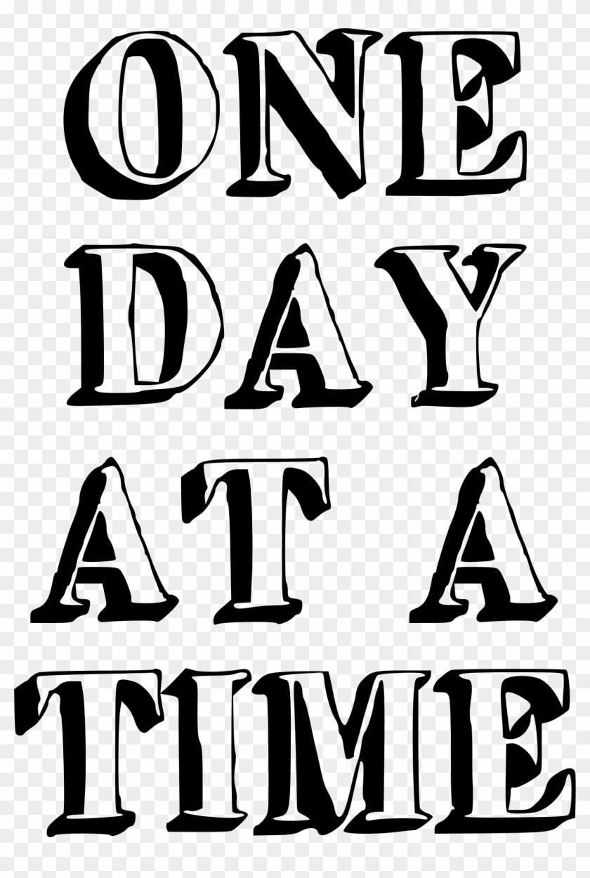 Clipart - One Day At A Time #93468