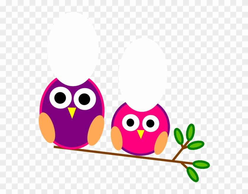 Cute Pink And Purple Owls Clip Art At Clker - Editable Classroom Door Signs #93465