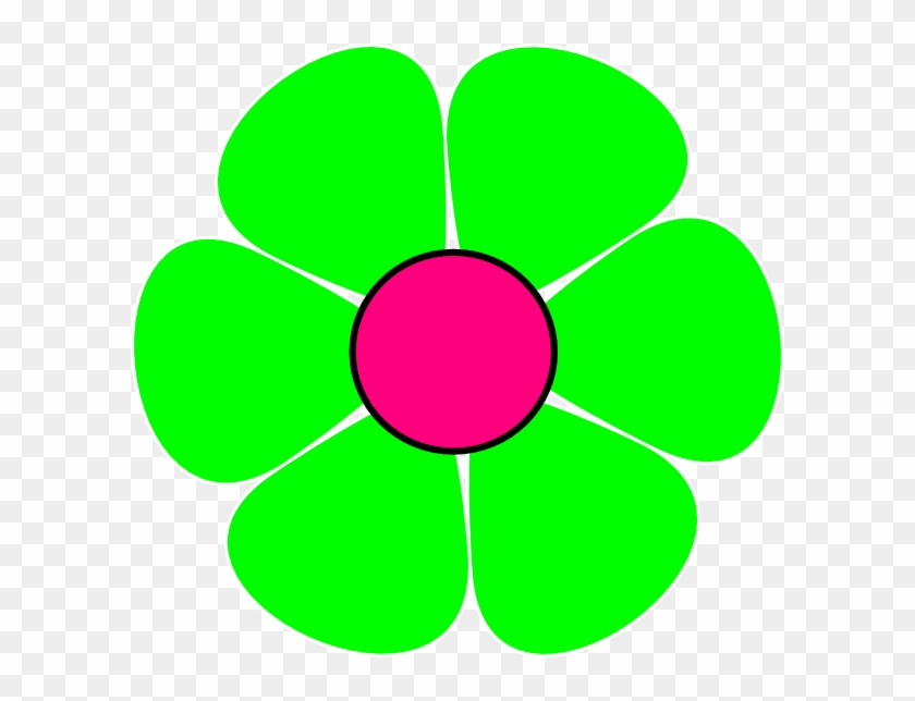 Green Small Flower Clip Art Cliparts - 70s Flower #93493