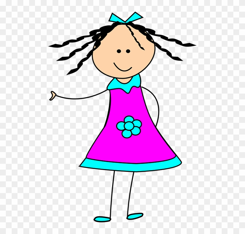 Clipart Of Small Girl Little Happy Clip Art At Clker - Happy Girl Clipart #93526