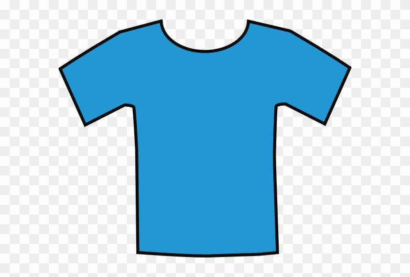 Kids Sports Shirts Clipart - Blue T Shirt Cartoon #93573