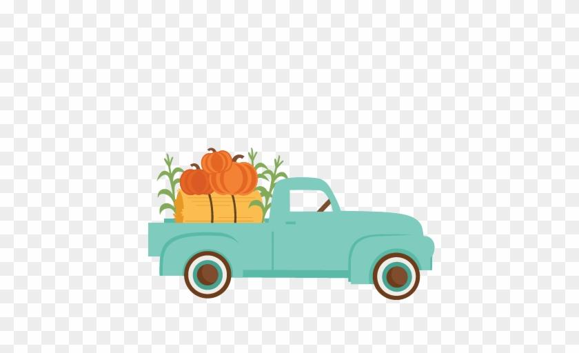 Fall Truck Svg Scrapbook Cut File Cute Clipart Files - Truck With Pumpkins Svg #93592