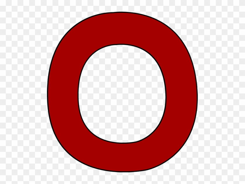 Red Letter O Clip Art Image Clipart Of Alphabet - Letter O Clipart #93600