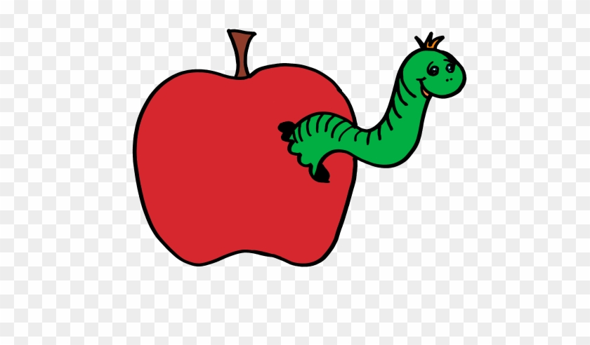 Tiny Worm Clipart - Apple And A Worm #93602