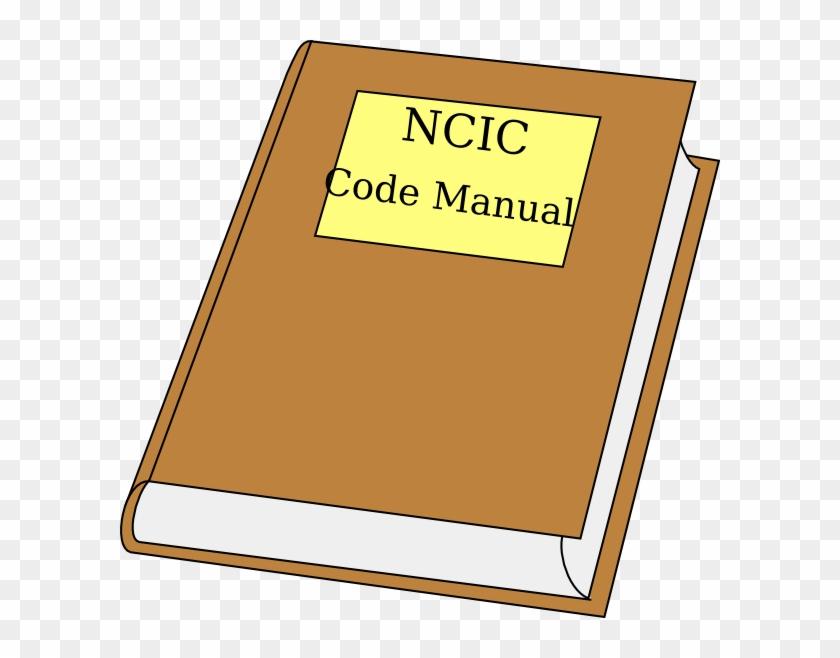 Ncic Code Manual Clipart Clip Art At Clker - Record Book Clip Art #93608