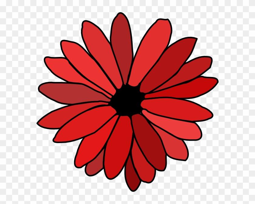 Red Flower Clip Art #93635