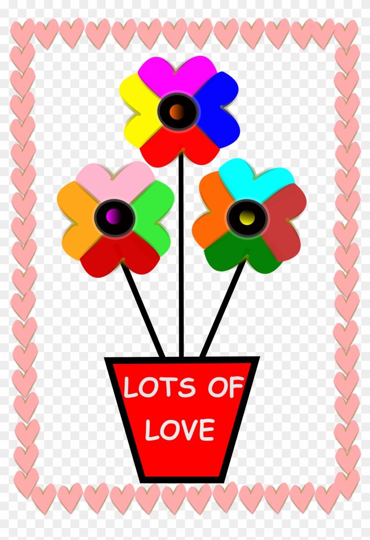 Big Image - Flowers Hearts #93694