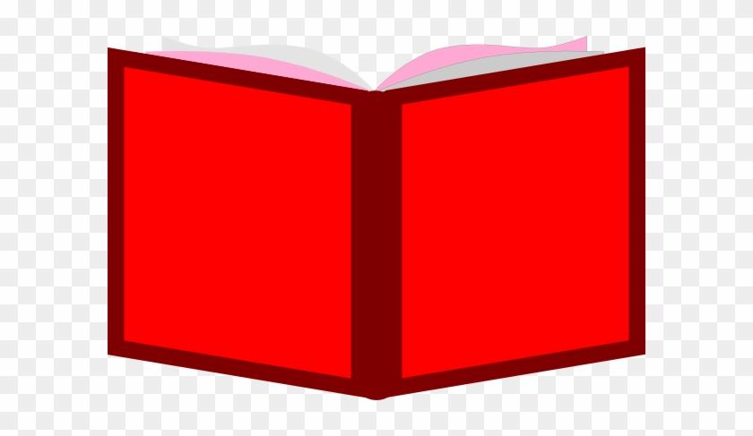 Red Open Book Clip Art At Clker - Clip Art #93901