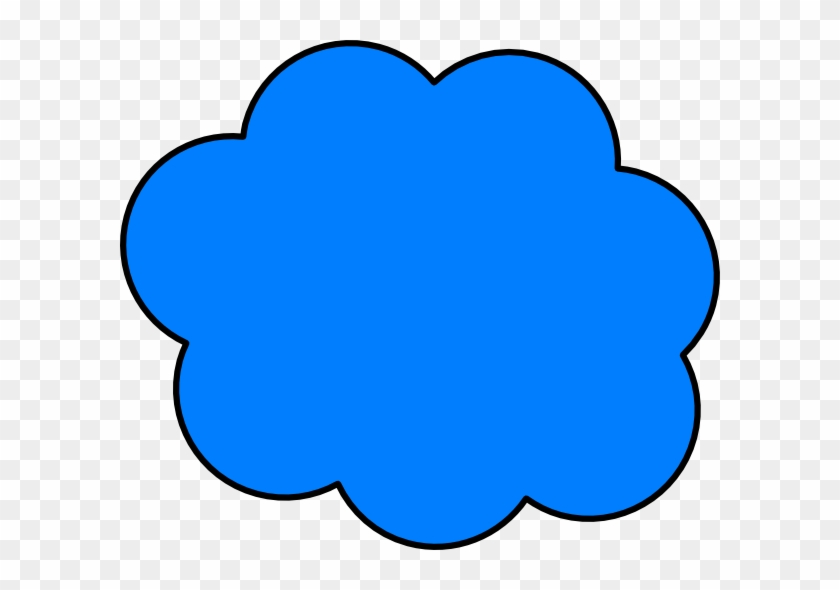 Cloud Clip Art - Cartoon Picture Of Blue #93944