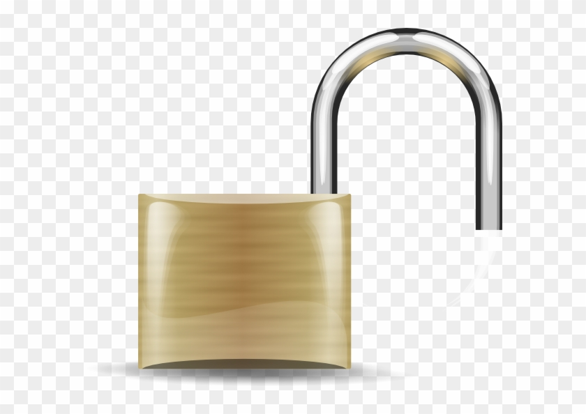 Free Vector Lockopen Clip Art - Pad Lock #94005