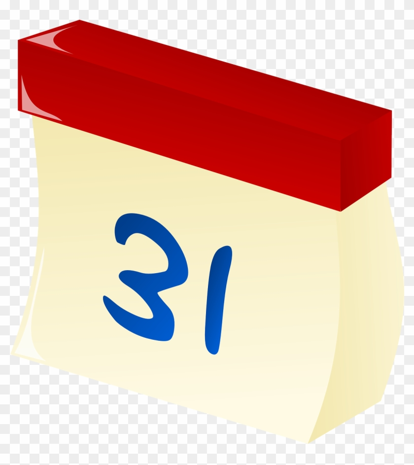 Tear-off Calendar Date Calendar Appointment - Kalenderblatt Clipart #94110