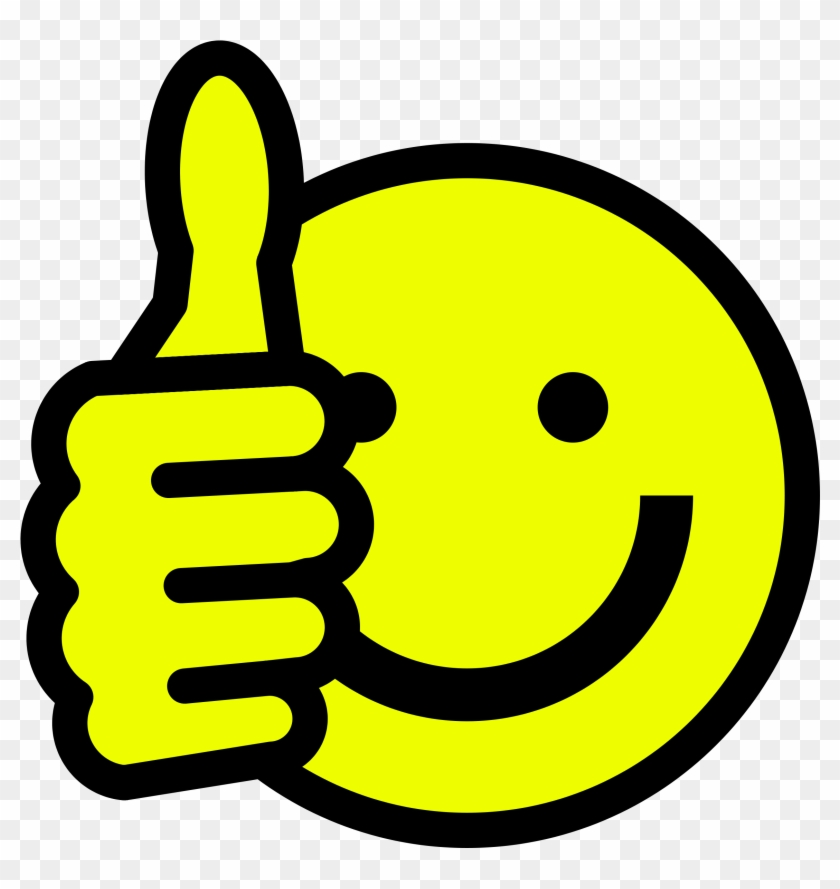 Get Your Message In Print - Thumbs Up Smiley Vector #94136