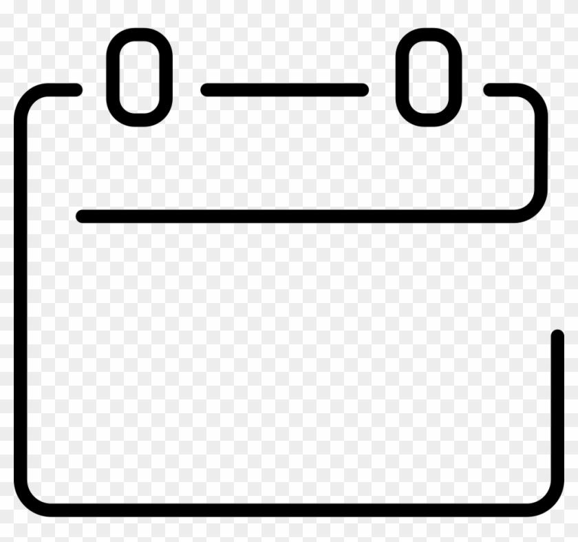 Calendar Empty Ultrathin Page Comments - Calendar Icon Line Png #94182