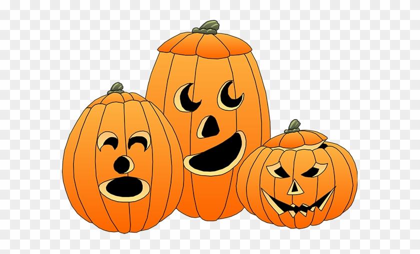 Halloween Clip Art Cute Pumpkin Very Happy Calendar - Jack O Lanterns Clipart #94233