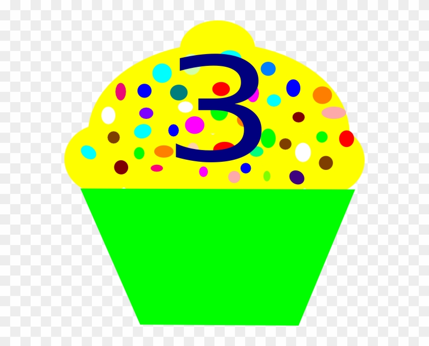Cupcake Number 3 Clipart #94241