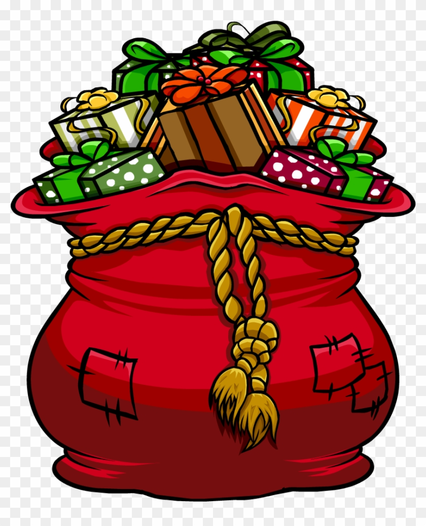 Santa Bag Clipart - Santa's Sleigh With Presents #94343