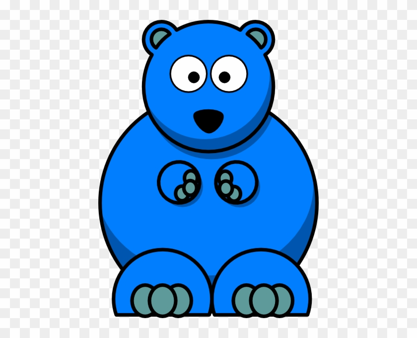Teddy Bear Clip Art Download Free - Blue Cartoon Gummy Bear #94369