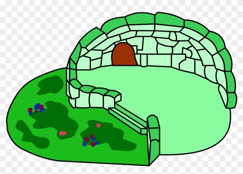 Green Clover Igloo - Club Penguin Green Igloo #94385