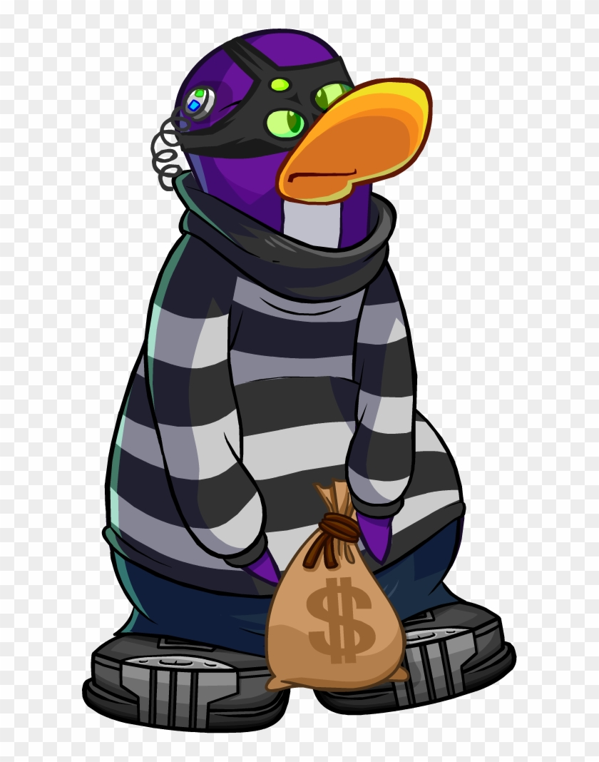 Club Penguin Wiki - Club Penguin Robber Png #94411
