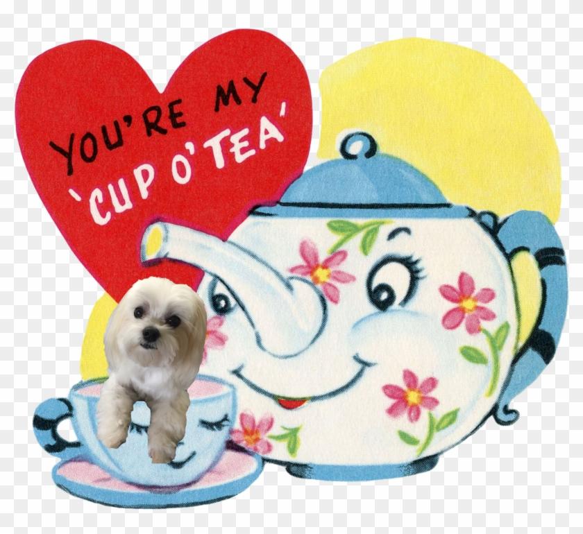 Retro Vintage Valentine's Ruby Lane - Vintage Teapot Valentine #94413