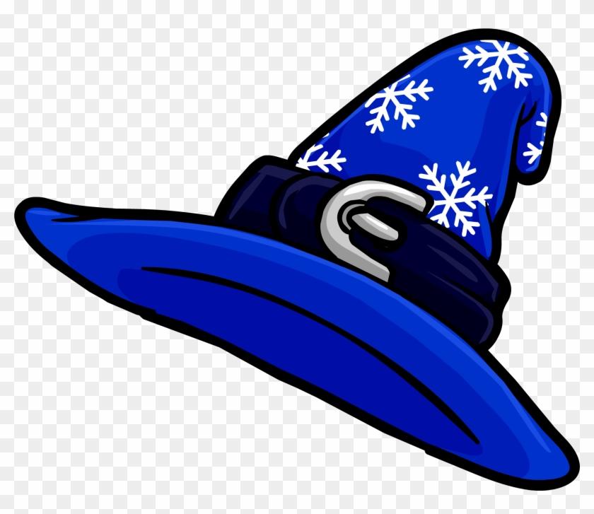 Cowbpy Hat Blue Clip Art - Wizard Hat Club Penguin #94428