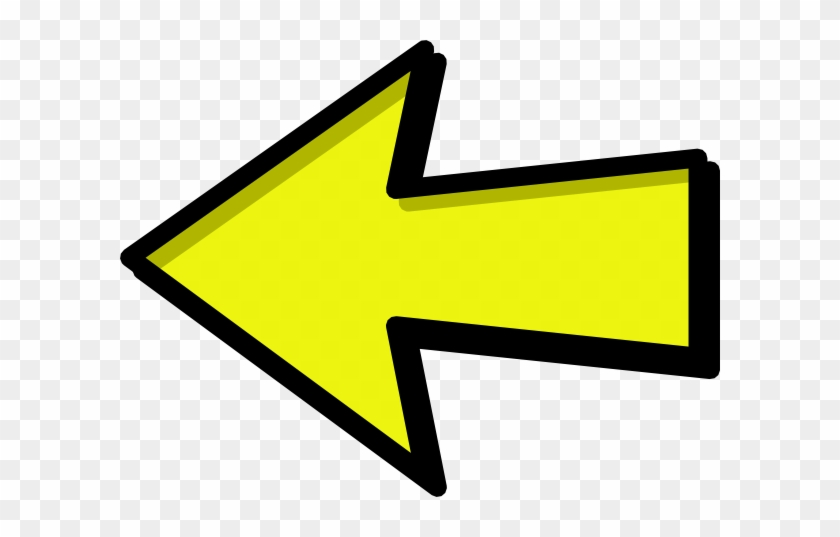 Left Arrow Clip Art - Arrow Clip Art Yellow #94449