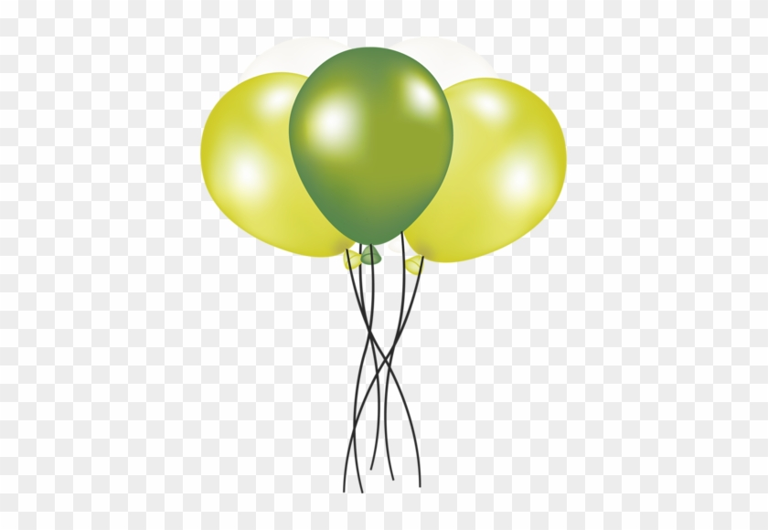 Clipart Aniversário - Green And Yellow Balloons Png #501602