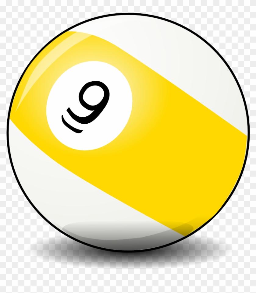 Clip Art Details - Bola Billiard Nomor 9 #502217