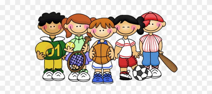 Cartoon Kids During Physical Education Sports Team Clipart Free Transparent Png Clipart Images Download